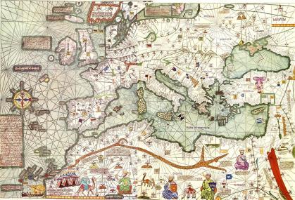 Catalaanse atlas, toegeschreven aan de Mallorcaanse jood Cresques Abraham