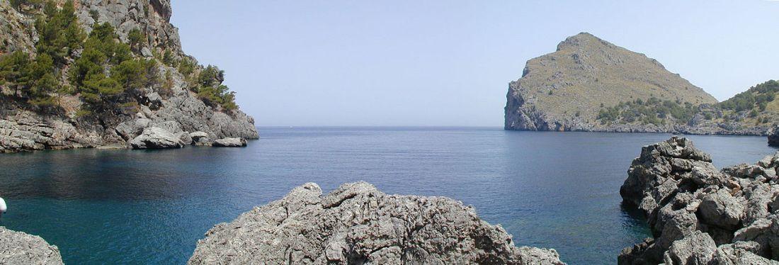 Een kreek aan de westkust van Mal;lorca (Sa Calobra).