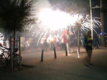 Vuurwerk tijdens de festiviteiten van Can Pastilla.