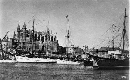 De haven van Palma 1920.