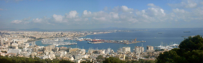 Uitzicht over de Baai van Palma.