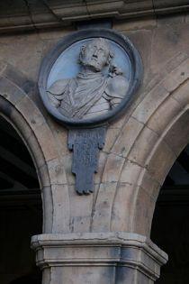 Bernardo del Carpio op het Plaza Mayor van Salamanca.