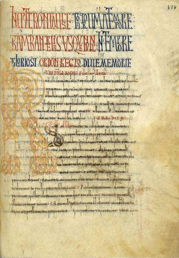 Kroniek van Alfonso III in de Rotense versie. Códice de Roda, folio 178 recto.