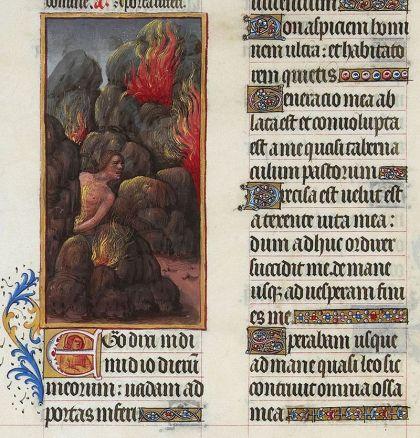 Illustratie van het 'Canto Ezequías afkomstig uit het werk 'Las muy ricas horas del duque de Berry'. Vaak namen de Asturische koningen een Joodse monarch uit het Oude Testament als model.