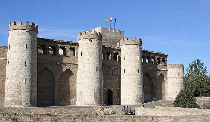 Het paleis van Aljaferia, zetel van het Gerechthof van Aragón.
