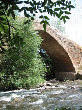 De rivier de Iregua (zijrivier van de Ebro), hier stromend door de gemeente Viguera.
