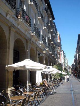 Calle Portales in Logroño waar de film Calle Mayor werd opgenomen.