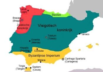 Politieke ruimtes Hispania 5e eeuw