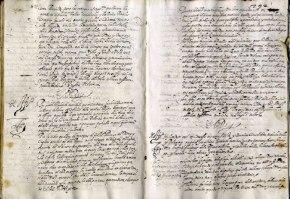 Foto van tekstpaginas van het Archivo General de Simancas.